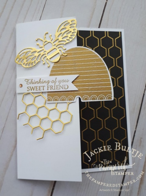 golden honey paper and honey bee stamp set