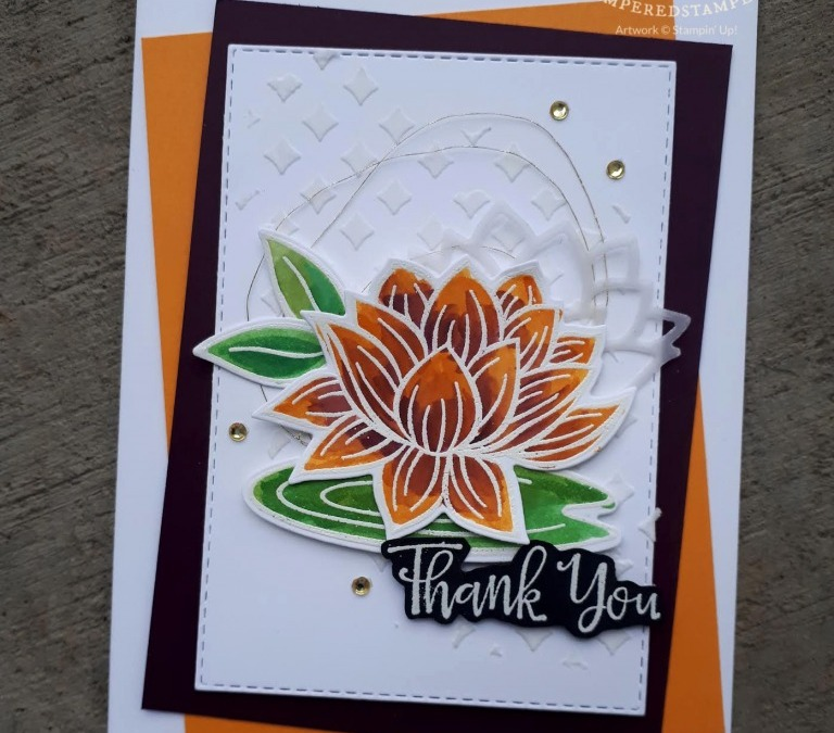 Lovely Lily Pad with Embossing Paste
