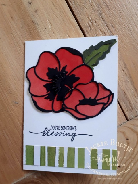 Honour and Remember poppy cards - mindful gratitude