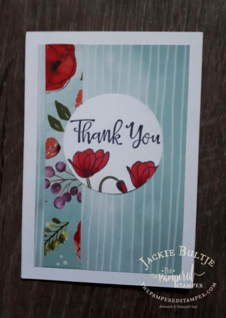 Peaceful Poppies card for Honour and Remember