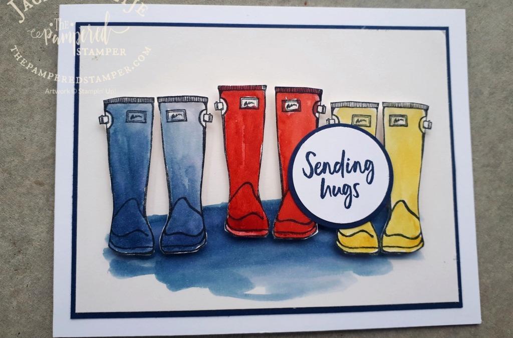 Watercolouring Rain Boots