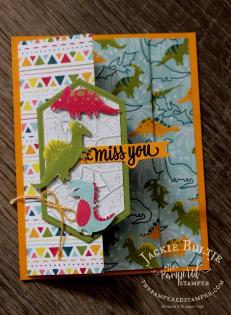 Fun Fold Card with Dino Days
