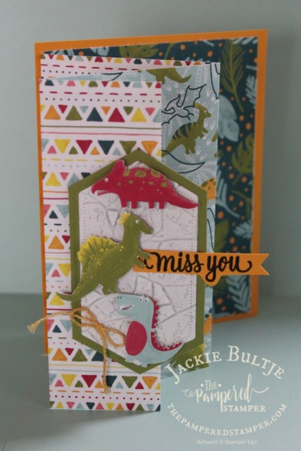 Fun Fold Dino Days card