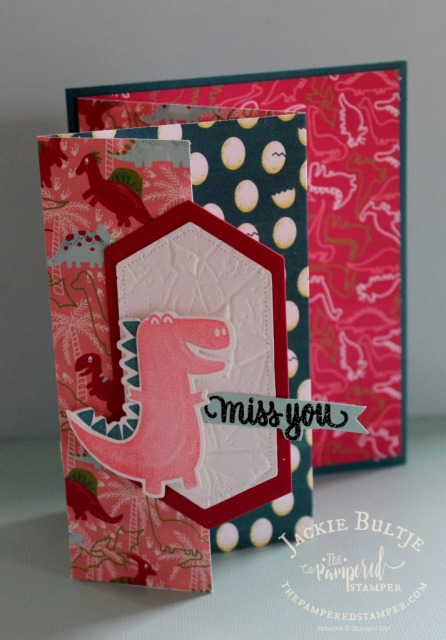 Dino Days fun fold card