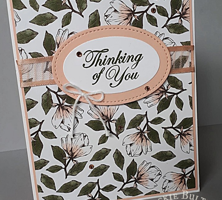 Twisted Pop-Up Card with Magnolia Lane