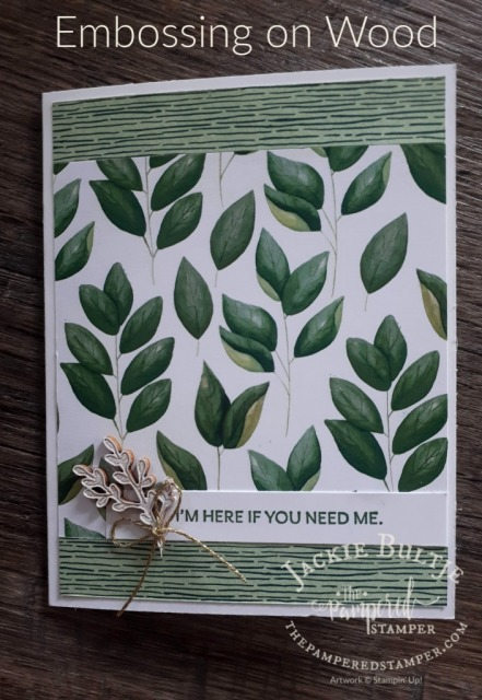 Embossing on Wood with Forever Fern