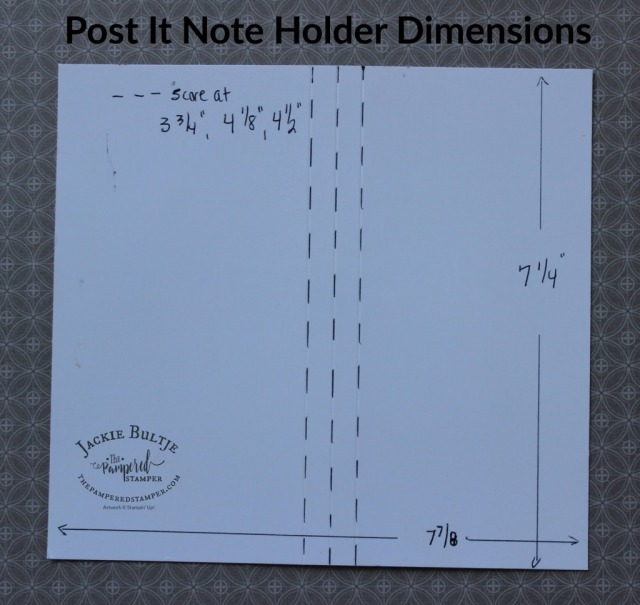 Post It Note dimensions