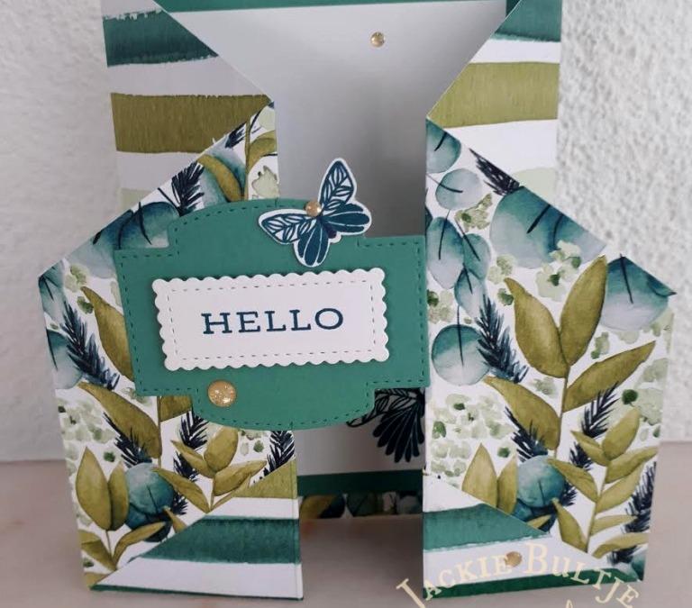 Faye's Forever Fern Fancy Fold Card